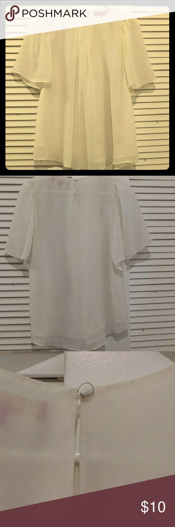 Cream blouse Flowy, cream blouse. Catherine Malandrino Tops Blouses
