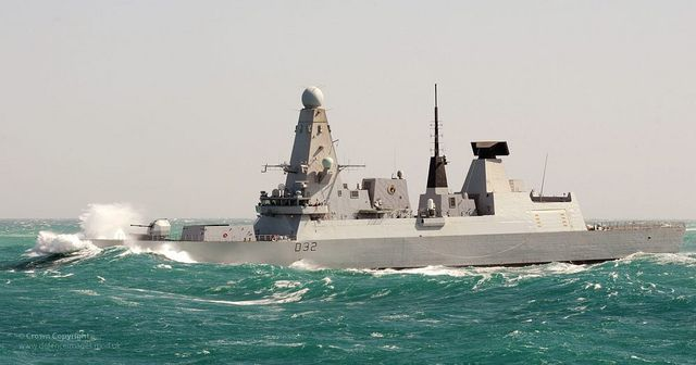 Type 45 Destroyer HMS Daring in Heavy Seas by Defence Images, via Flickr