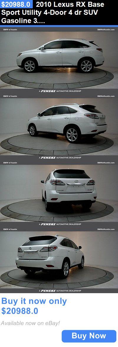 SUVs: 2010 Lexus Rx Base Sport Utility 4-Door 4 Dr Suv Gasoline 3.5L V6 Dohc 24V White BUY IT NOW ONLY: $20988.0