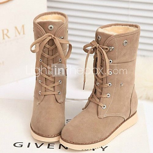 Women's Shoes Korean Flange Wedge Heel Comfort/Closed Toe Boots Outdoor/Casual - USD $23.74 ! HOT Product! A hot product at an incredible low price is now on sale! Come check it out along with other items like this. Get great discounts, earn Rewards and much more each time you shop with us!