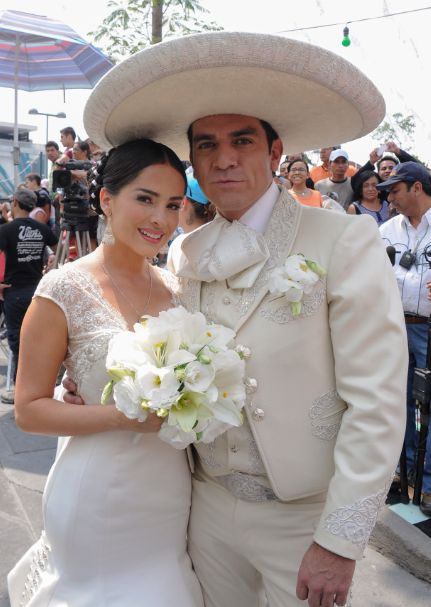 Charro Suit. The only way a groom could totally steal my cracked-out-dress-thunder...