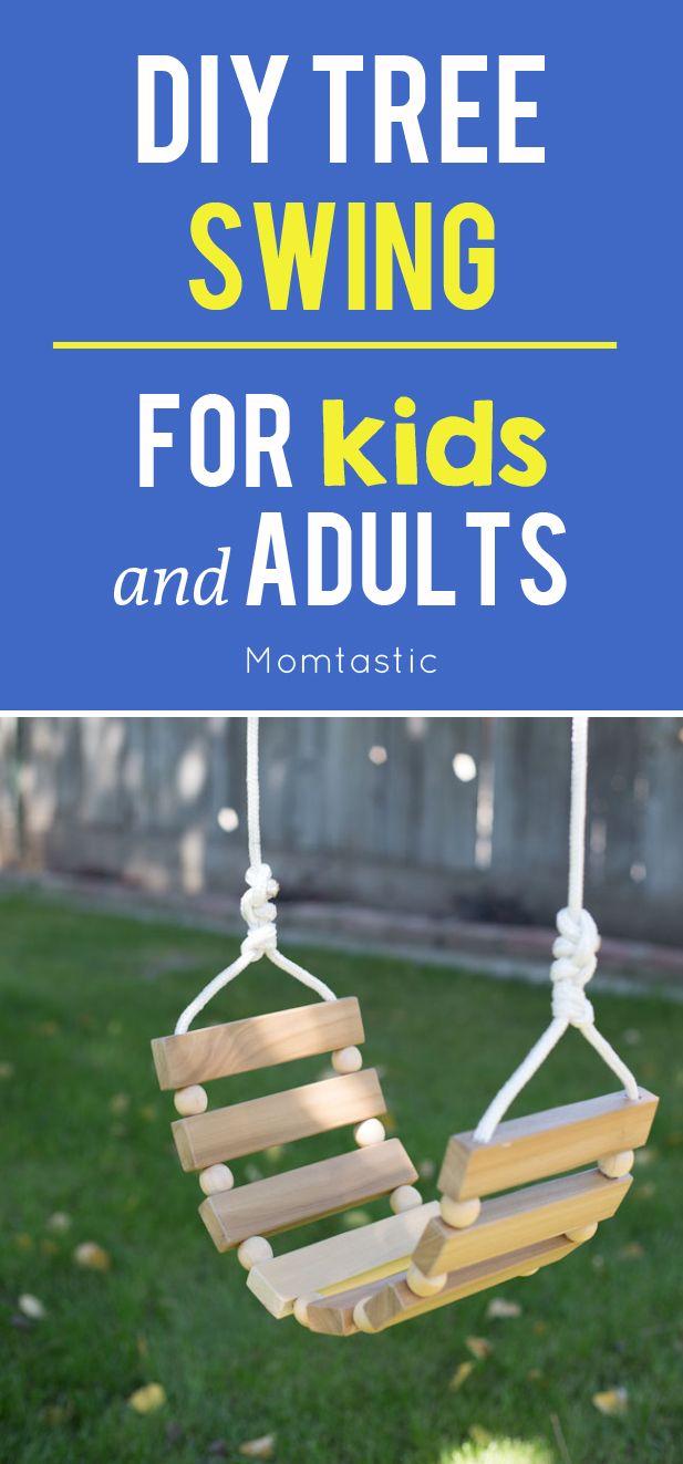 25 best ideas about swings for kids on pinterest for Diy adult swing set