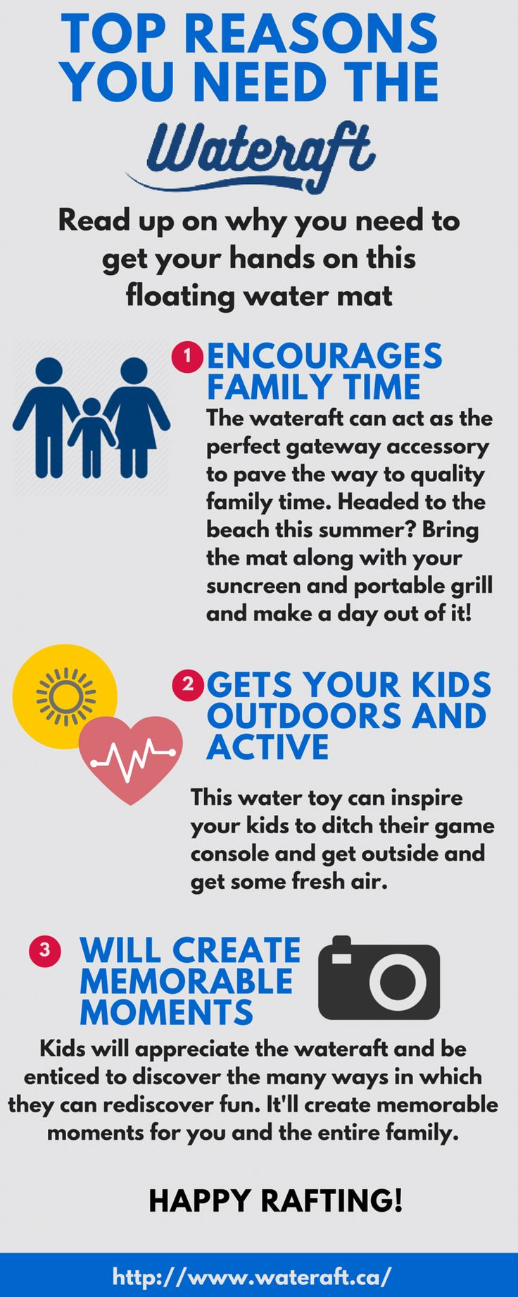 See how the #wateraft can create a summertime of laughter. Learn more here: http://www.wateraft.ca/   #HappyRafting