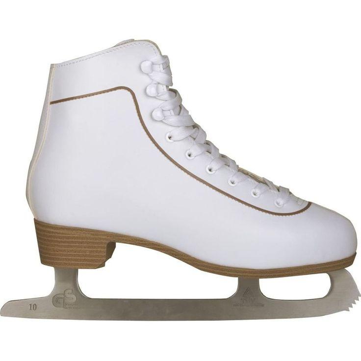 Figure Skating Shoes Activity Figure Skates White Women Leather Classic Size 43 #FigureSkatingShoes