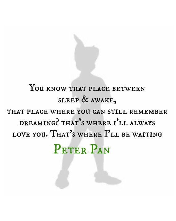 Peter Pan Quote Silhouette Digital Print by RachelsMagicalPrints, £4.00
