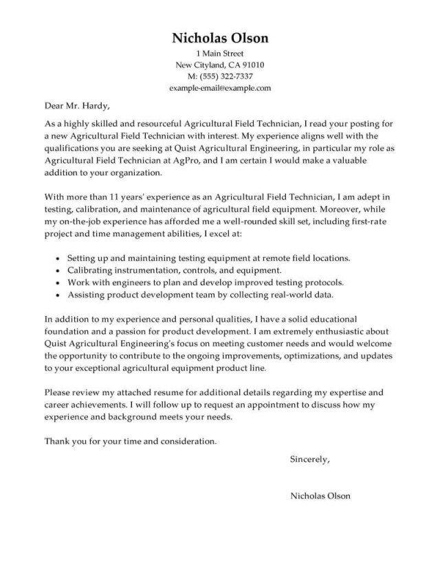 27+ Pharmacy Technician Cover Letter Resume Cover Letter Example