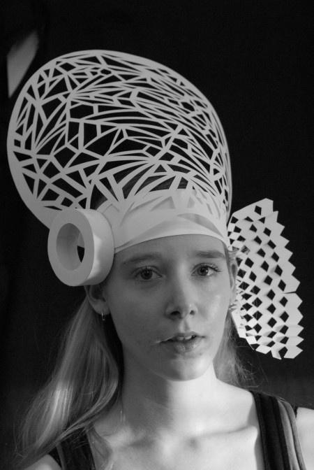 Architecture Inspired Paper Body Adornment