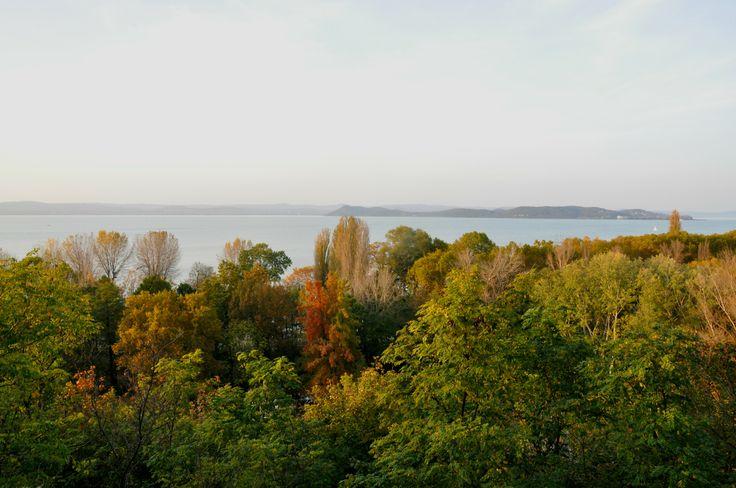 Balatonföldvári kilátó ősszel. Autumn. Hungary. Balaton.
