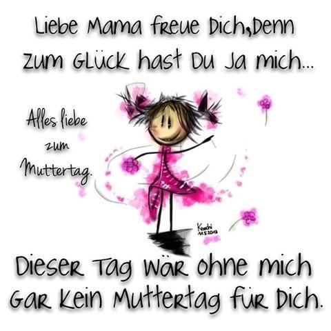 Liebe #Mama freue dich, denn zum #Glück hast du ja mich … ☺️ Dieser #Tag…