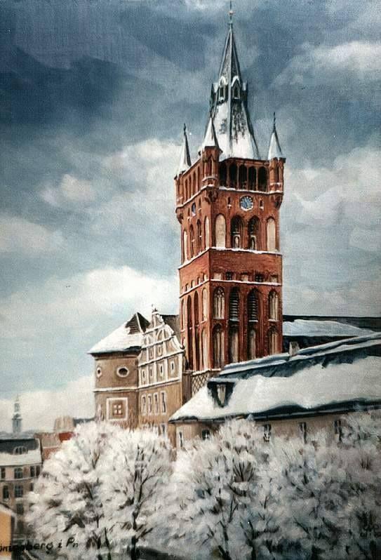 Königsberg Pr. Königsberger Schloß, Schloßterrassen im Winter