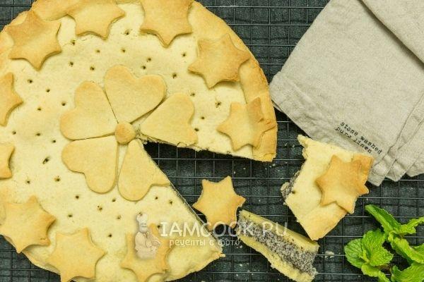 Фото пирога с заварным кремом и маком