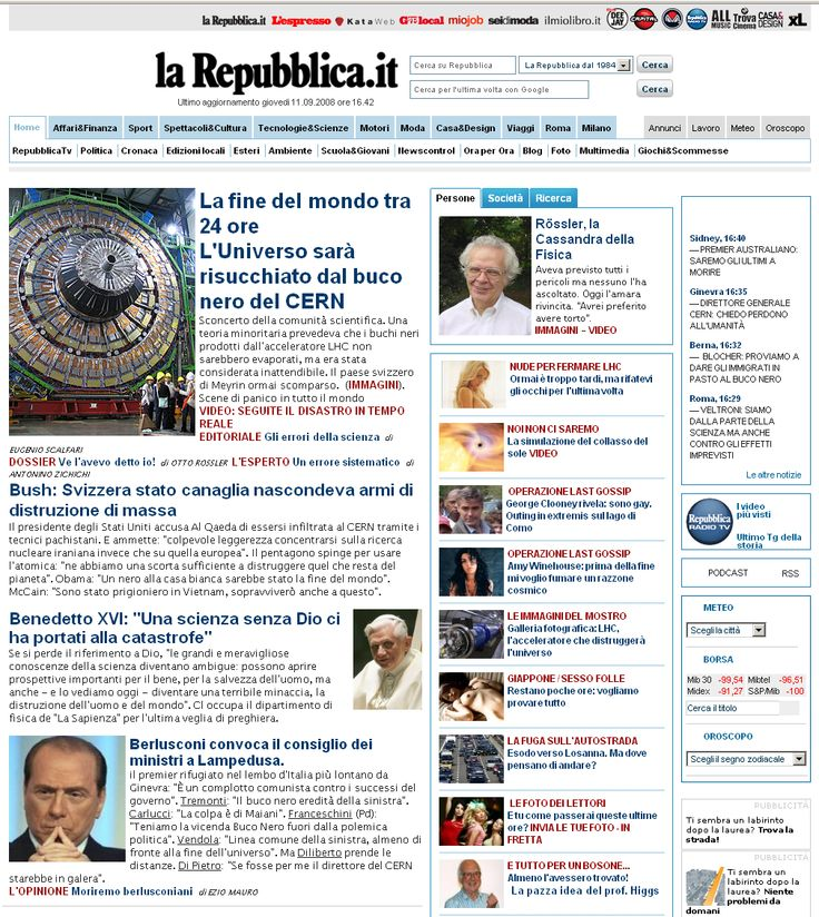 Falsa home di Repubblica
