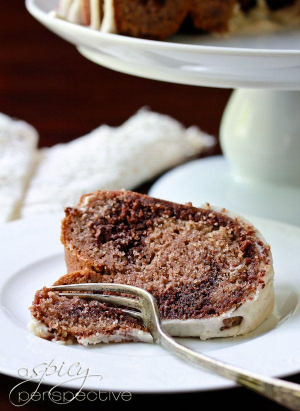 Velvet Brownie Swirl Cake