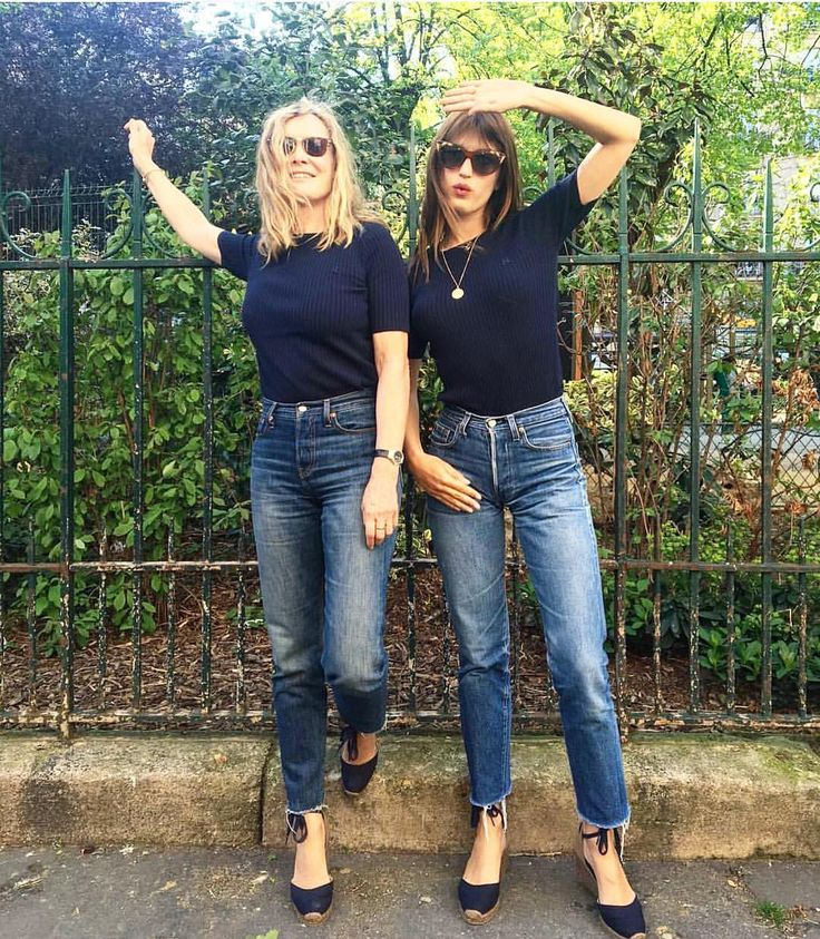 "Who What Wear on Instagram: ""Chic is genetic. Happy Mother's Day, all! // regram @jeannedamas"""
