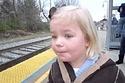 Little Girl's First Train Ride