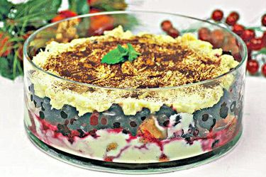 Christmas Fusion recipe, Regional Newspapers – This yummy dessert is a mixture of summer pudding, trifle and tiramisu. Use homemade or bought custard. I made my own using EasiYo custard mix, which contains a culture. It's not too sweet. Use crisp lady fingers - ordinary sponge cake is too soft. – foodhub.co.nz