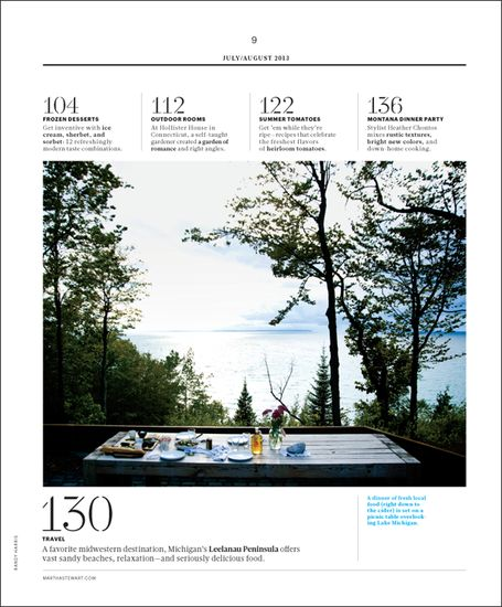 Magazine Layout   Table Of Contents