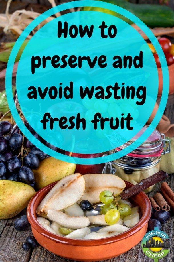 Ideas that avoid food waste of fresh fruits