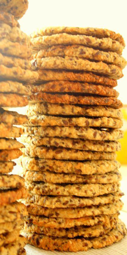 Anka Karmicielka: Ciasteczka owsiane z lnem i sezamem