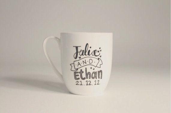 Wedding Bomboniere custom cup mug or by Rowemade on Etsy, $15.00