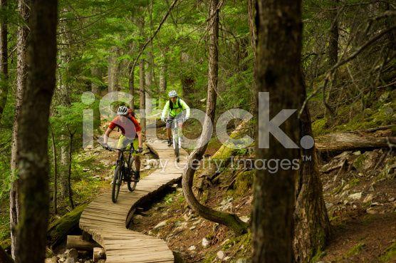 Mountain Biking Couple royalty-free stock photo