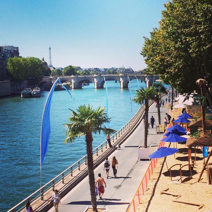"""Paris Plage @96_metro su Instagram: """"À la fin d'été, Paris Plage 2016 夏の終わり、2016年のパリプラージュ #paris #パリ #parisplages #laseine #evianparisian"""""""