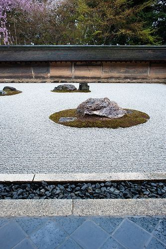 The rock garden at Temple Ryoan-ji #Kyoto, #Japan by lilly