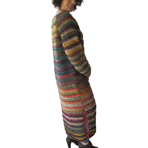 20 Winter Hand Knitted Maxi Cardigan Stylish Winter Outfits on the... ($104) ❤ liked on Polyvore featuring tops, cardigans, grey, sweaters, women's clothing, multi colored cardigan, multi color cardigan, multicolor cardigan, maxi tops and hand knit cardigan