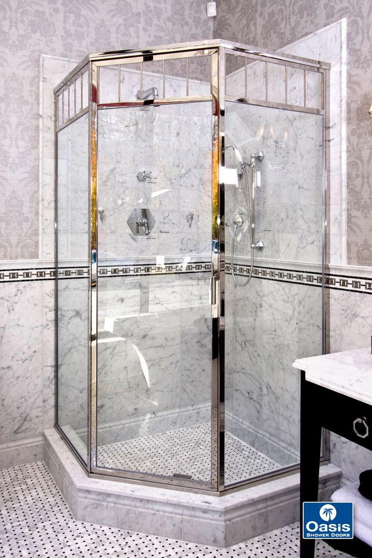 How to replace shower door drip rail - Oasis Classic Neo Angle Has The Look Of The And With All The Contemporary Features Of Today Solid Plated Over Brass Framing With Piano Hinge And Glass