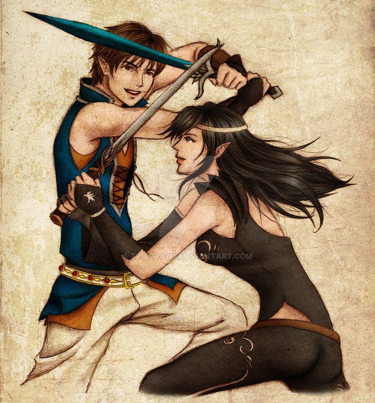 Eragon & Arya (Shadeslayers' Duel by trixdraws on DeviantArt)