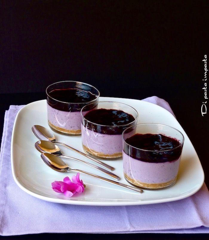 Di pasta impasta: Coppette di cheesecake ai mirtilli (senza zucchero)