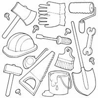 Hand Tool Coloring Pages