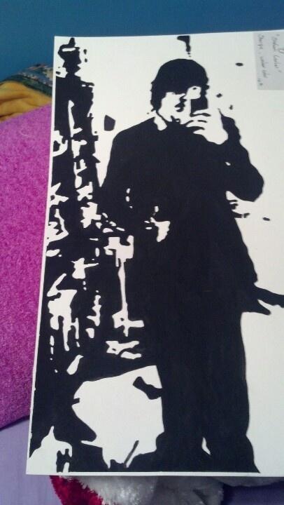 Black watercolor picture of stefan carter