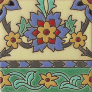 Cuerda Seca Mexican Tile Border  rvl 195