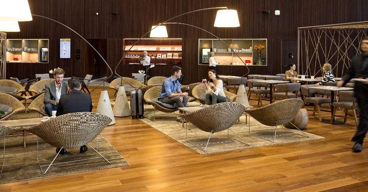Sala vip da Star Alliance no terminal 3 do Aeroporto de Guarulhos (SP)