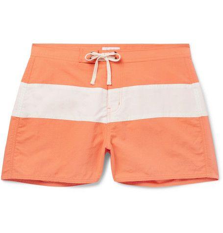37f9f88a95 SATURDAYS SURF NYC Grant Slim-Fit Short-Length Colour-Block Swim Shorts.  #saturdayssurfnyc #cloth