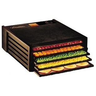Contemporary Specialty Kitchen Electrics by Kitchen Universe  Excalibur Deluxe Food Dehydrator, 5 Trays, Black + Disposable ParaFlexx Sheets - $212.31