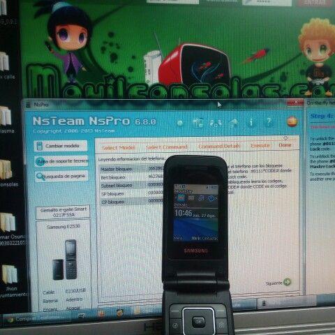 Unlock Samsung e2530 with NSPRO  MOVILCONSOLAS SL Ronda de San Agustín 63 A-1 41400 Écija Sevilla Tfno.: 95 483 03 05 680 21 04 05 (Whatsapp) info@movilconsolas.com
