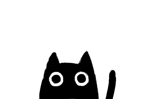 sweet black kitty cat | children's room . Kinderzimmer . chambre d'enfant | @ Cubicle Refugee |