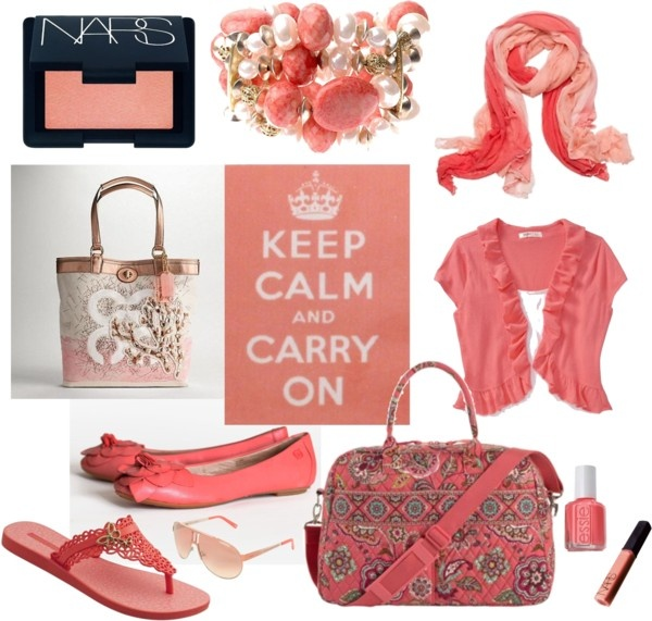 """""""Coral Accessories for the Light Seasons"""" by mpsakatrixie on Polyvore"""