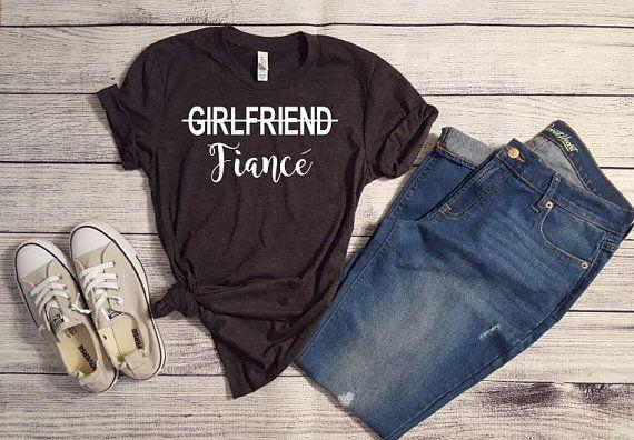 f81e1744 Girlfriend Fiance Shirt, Engaged Shirt, Newly Engaged Tee, Announcement  Shirt, Engagement Gift, Fiance Girlfriend T Shirt, Gifts For Her