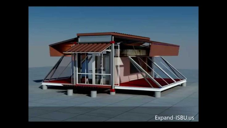 Small Container Transformed Into a Real Home-EBS Block- Expandable Building System Block