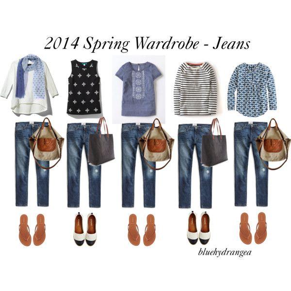 """Spring Wardrobe - Jeans"" by bluehydrangea on Polyvore"