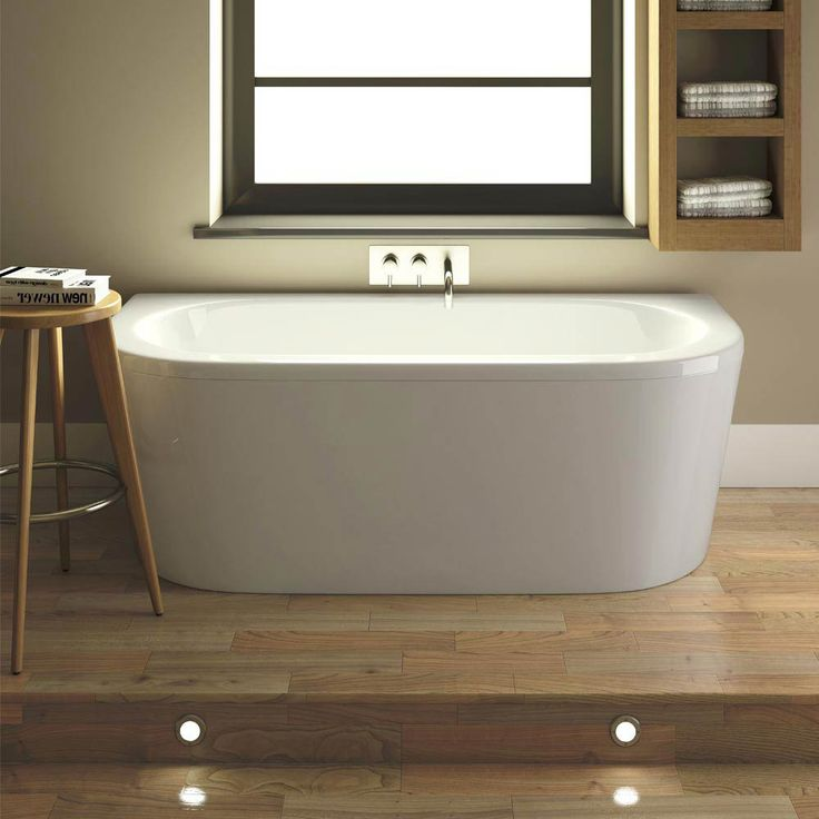acrylic panels for bathroom walls%0A Costa Back To Wall Bath with Acrylic Front Panel   Legset       x    mm