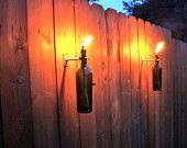 Wine Bottle Tiki Torches - via Etsy