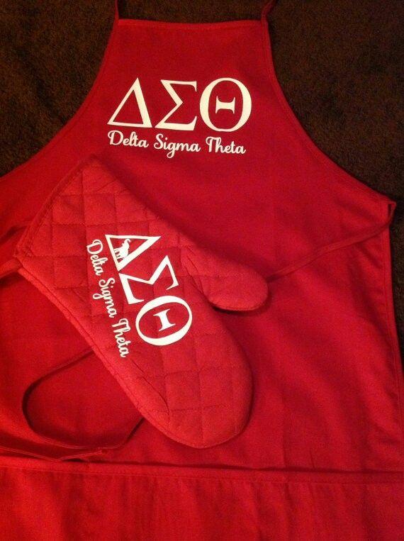 Delta Sigma Theta apron and mitt