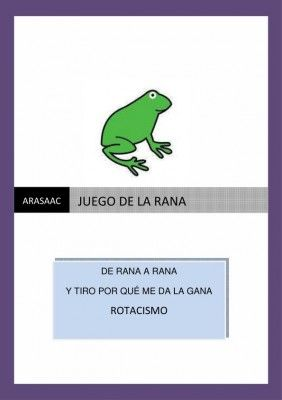 el juego de la rana_1. Para niños con problemas para pronunciar la R
