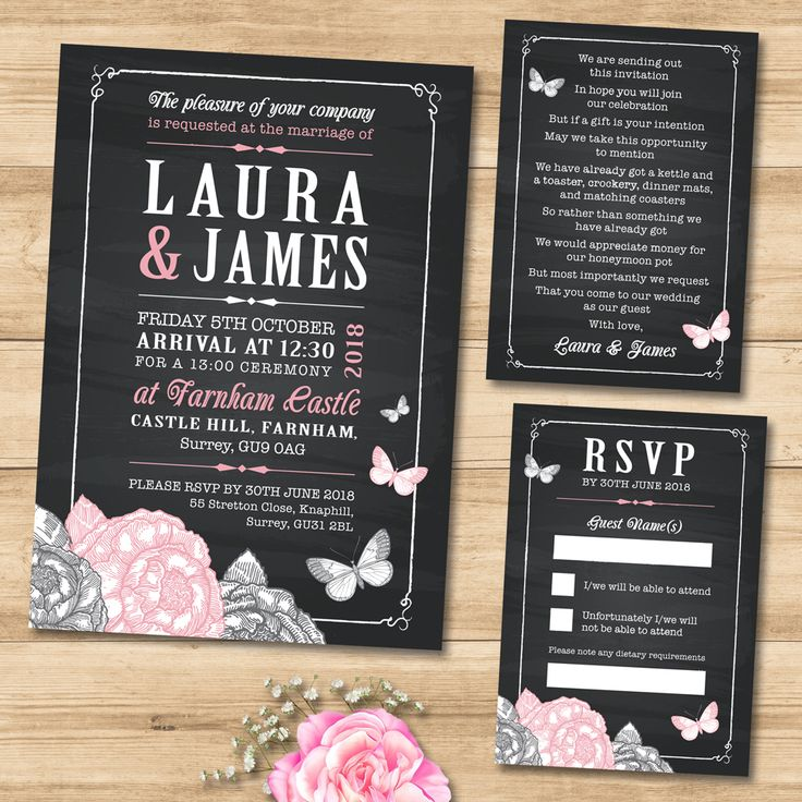 12 best Wedding Invitation Sets, rustic, vintage, pastel colours ...