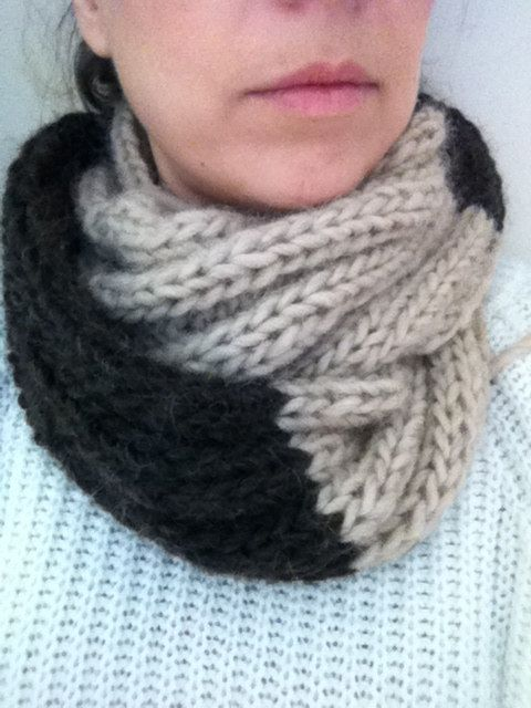 Salted caramel knitted snood by RTMDesigns on Etsy