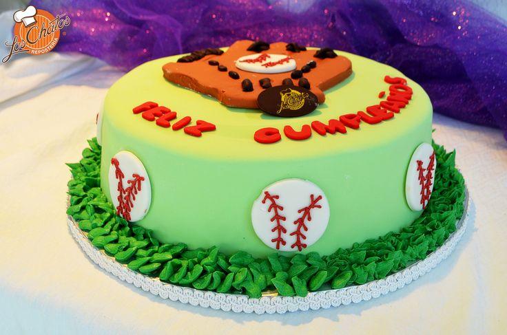 Pastel Beisbol/Baseball cake #pasteles #puertovallarta loschatos.com